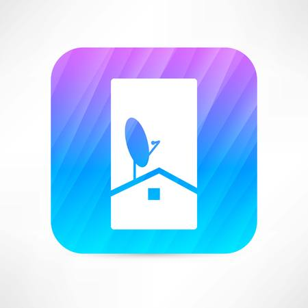 airwaves: antenna dish icon Illustration