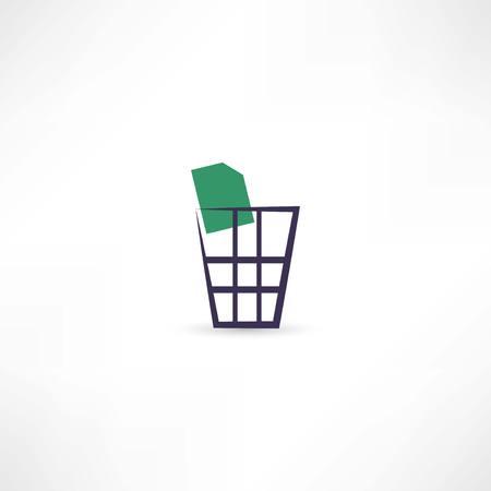 dumping: dustbin icon