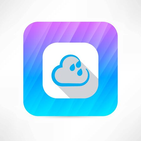 damp: rain cloud icon Illustration