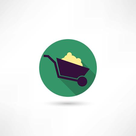 wheelbarrow icon Ilustração