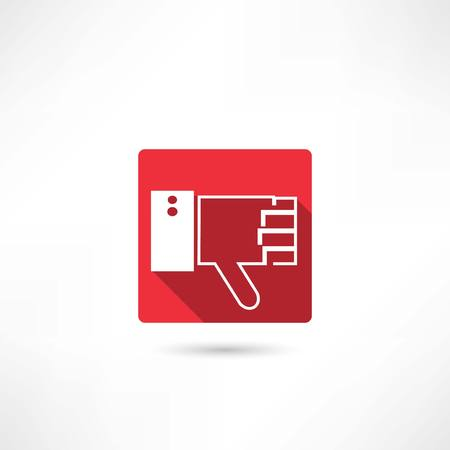 disapprove: thumb down icon Illustration