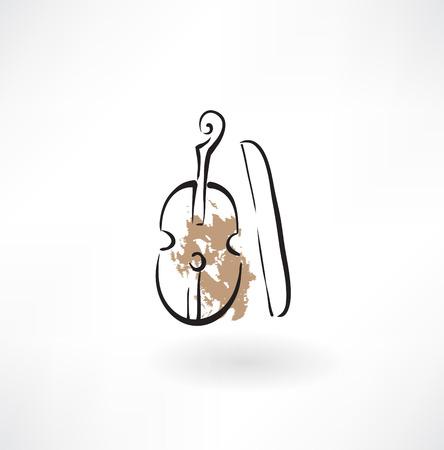 cello: violin grunge icon