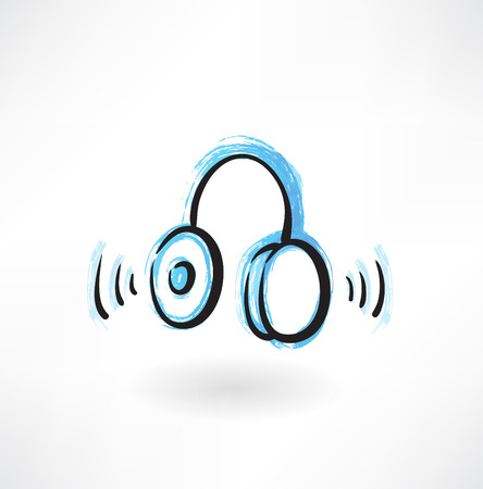 earbud: headphones grunge icon