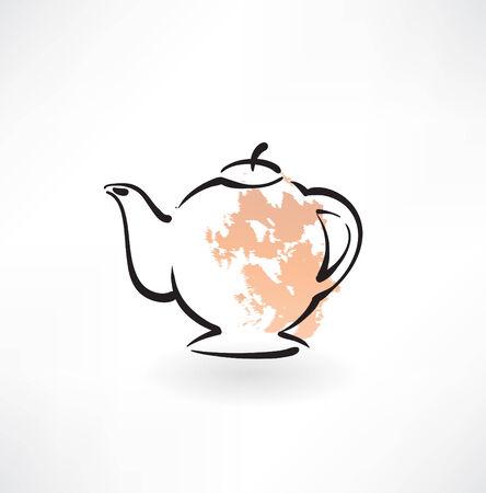 teapot grunge icon Ilustrace