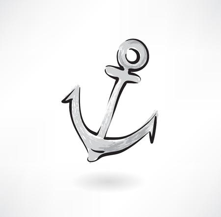 anchor grunge icon