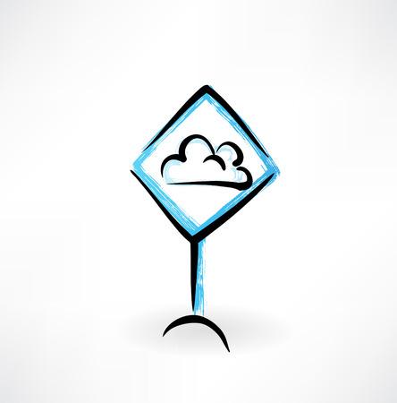 cloud grunge icon