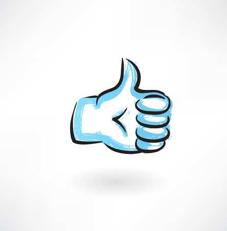 thumb up grunge icon
