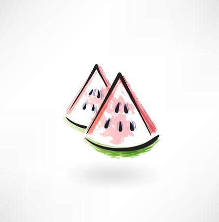 watermelon grunge icon
