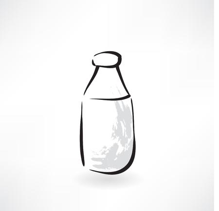 milk bottle grunge icon