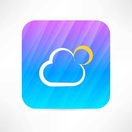 sun and cloud icon