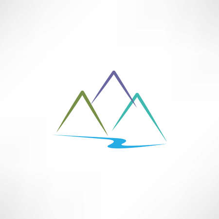 mountain icon Иллюстрация