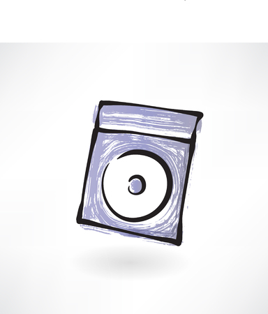 compact disk: compact disk grunge icon