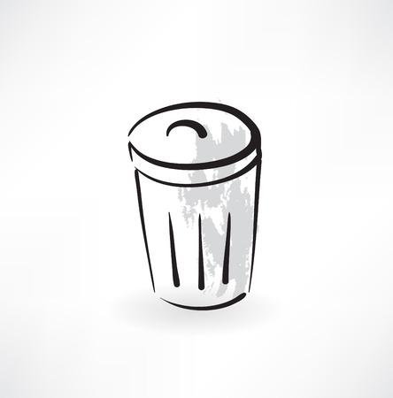 bin grunge icon