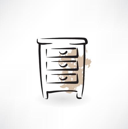 furnier: Nachttisch-Grunge-Ikone