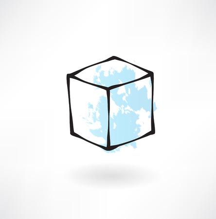 white box grunge icon