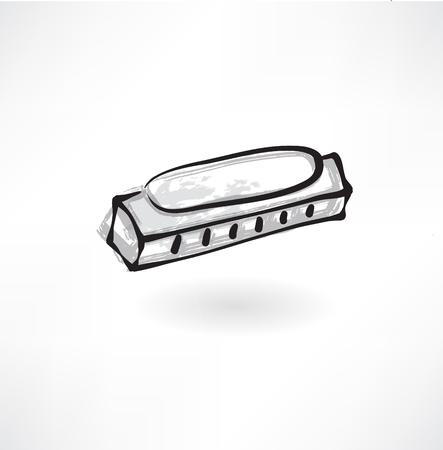 harmonica: harmonica grunge icon