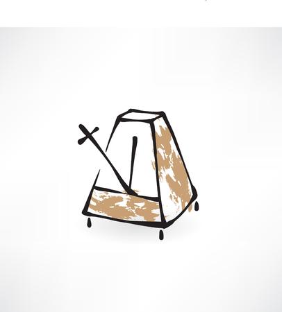 metronome: metronome grunge icon