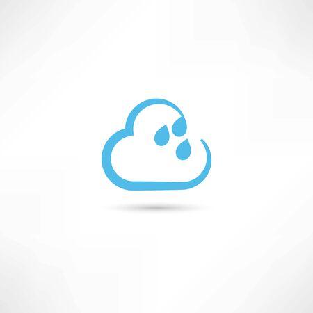 humid: rain cloud icon Illustration