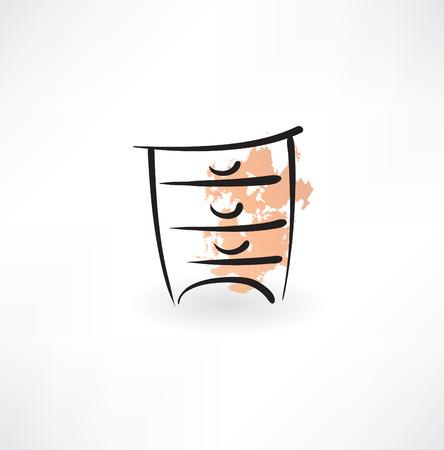 шпон: значок тумбочка гранж
