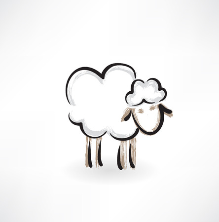 lamb grunge icon Vector