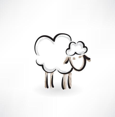 woolly: lamb grunge icon
