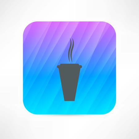 hot paper cup icon Vector