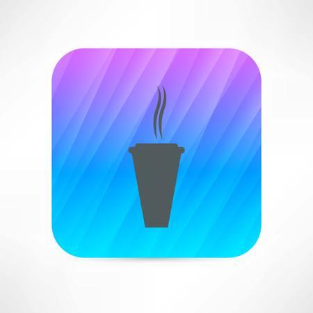 hot paper cup icon Illusztráció
