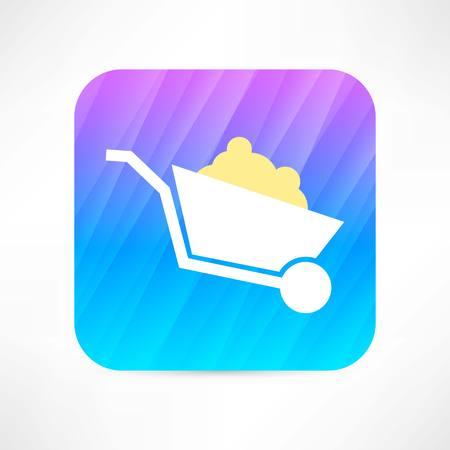 gold mining: trolley icon