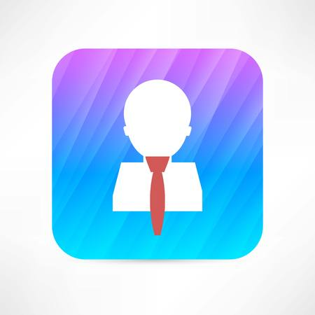 man in tie icon Vector
