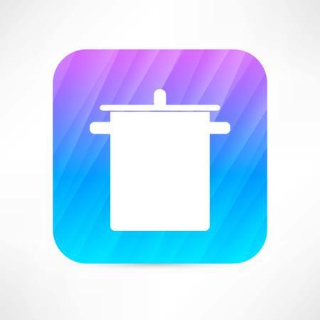 stewpot icon Stock Illustratie