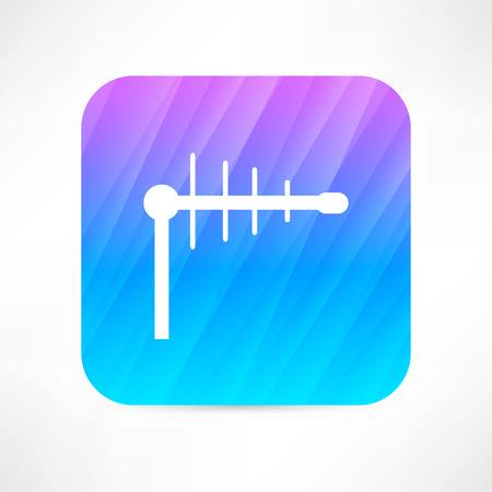 radio beams: tv antenna icon