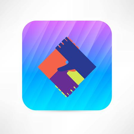 colored hands icon Vector
