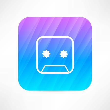 cassette icon 向量圖像