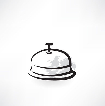 cloche: covered dish grunge icon