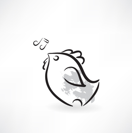 cartoon chicken icon Vector