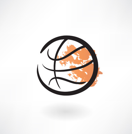 basketball grunge icon Vector