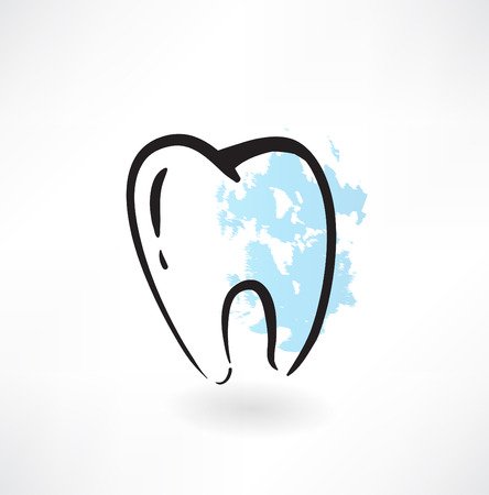 tooth grunge icon Vector