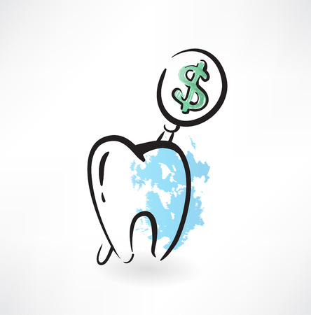 cost of tooth grunge icon