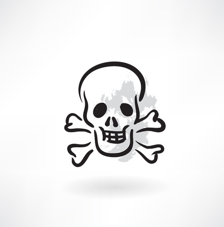poison grunge icon Vector