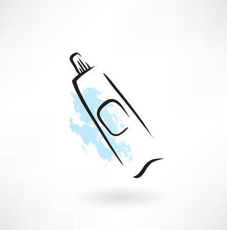 tube tandpasta grunge pictogram