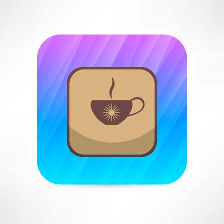expresso: hot cup icon Illustration