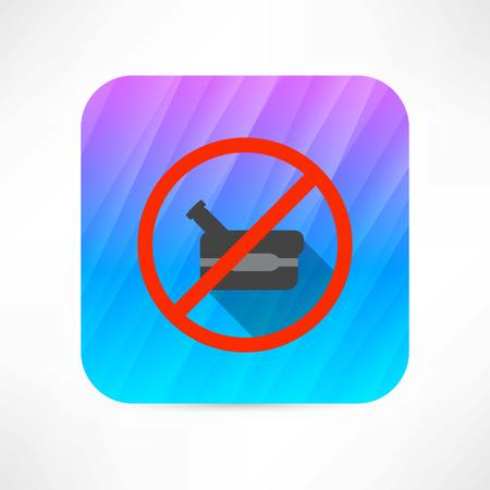 banned: ban video camera icon Illustration