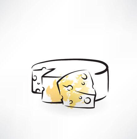 cheese grunge icon
