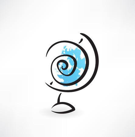 globus: globus grunge icon