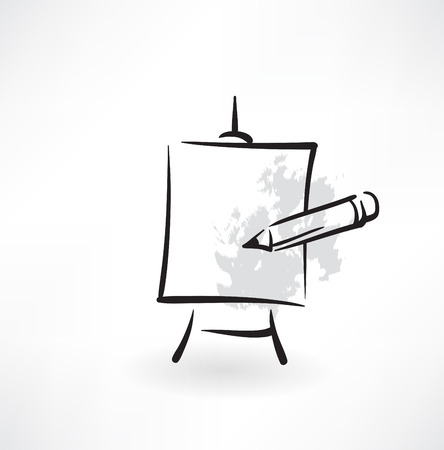 easel grunge icon Vector