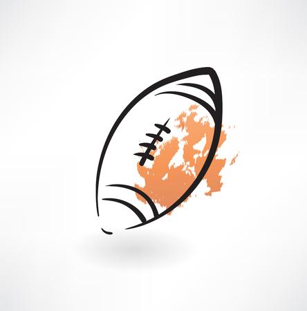 ballon de rugby: ballon de rugby grunge ic�ne