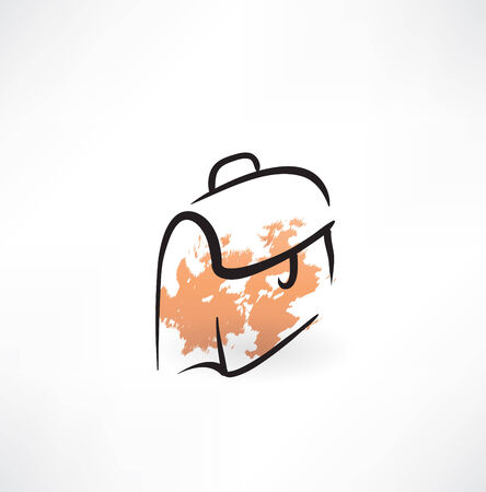 briefcase grunge icon Vector