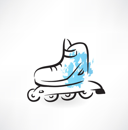 roller-skates grunge icon