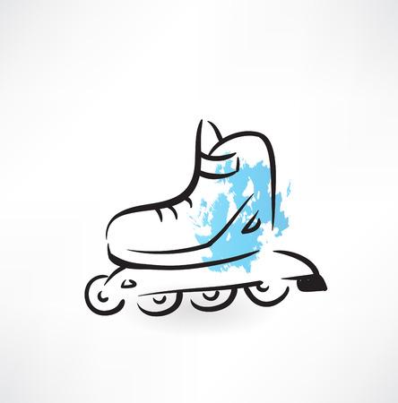 roller skates: roller-skates grunge icon