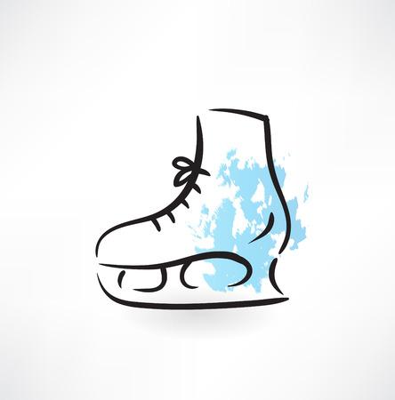 ice skates: skates grunge icon